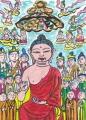 5霊鷲山で説法する釈迦
