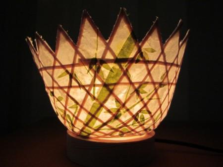 20131005 … 竹のランプシェード (1)
