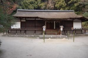 宇治上神社拝殿正面写真