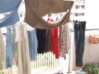 5/13 ベランダいっぱいの洗濯