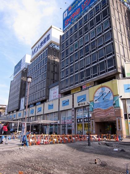 熱海駅前工事
