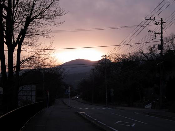 日が暮れてきた