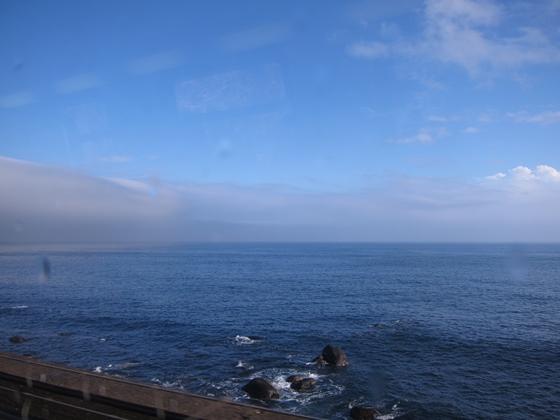 晴れてきた海