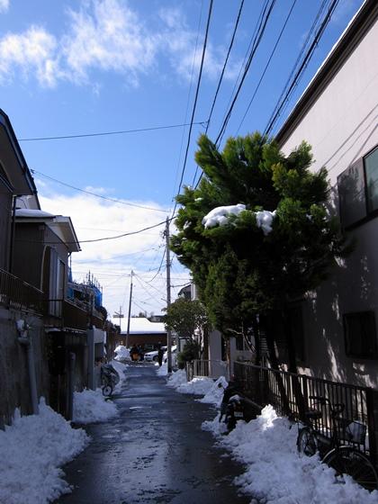 雪かきが終わって2