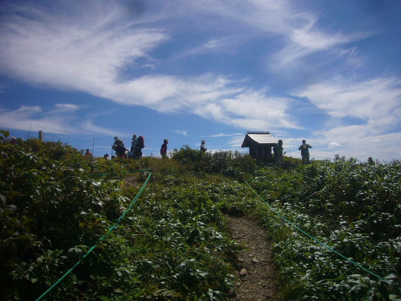 荒島岳頂上付近 H26.9.21撮影