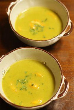 かぼちゃのニョッキ入り豆乳スープ
