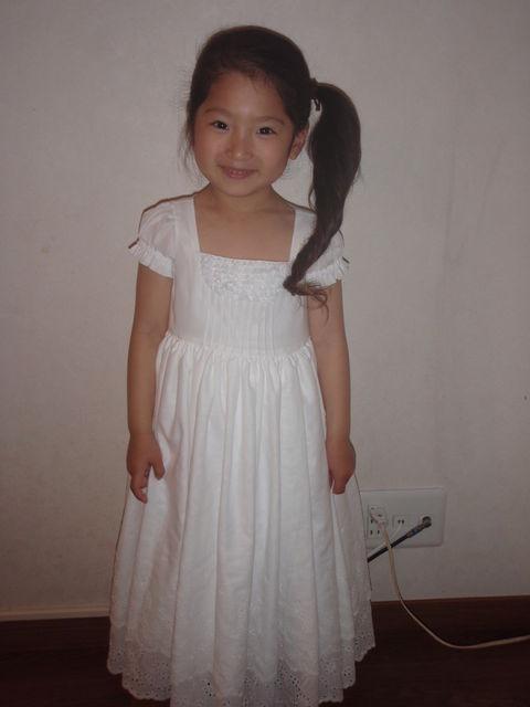 そら5歳バースディドレス