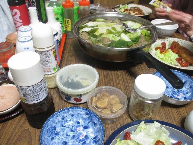 20131110・夕食・この秋初の湯豆腐