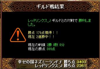 14.1.26レッドリンクス様 結果