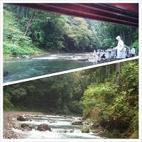 秋川渓谷河原で