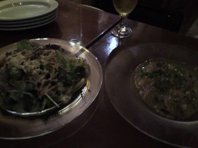 サラダとカルパッチョ