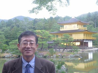 京都・金閣寺にて