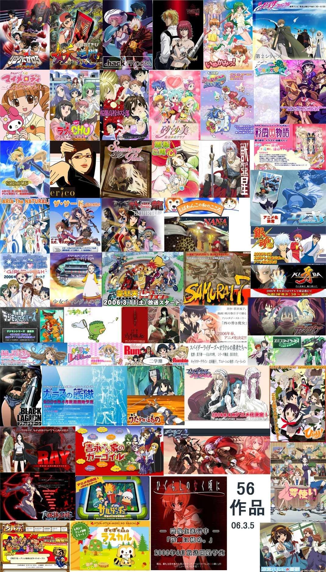 2006年春アニメ