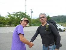 柴田氏との出会いと握手 20130907