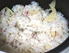 桜ごはん 炊き上がり