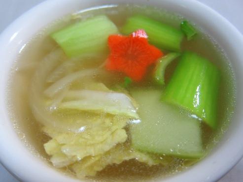 青梗菜と白菜スープ(B)