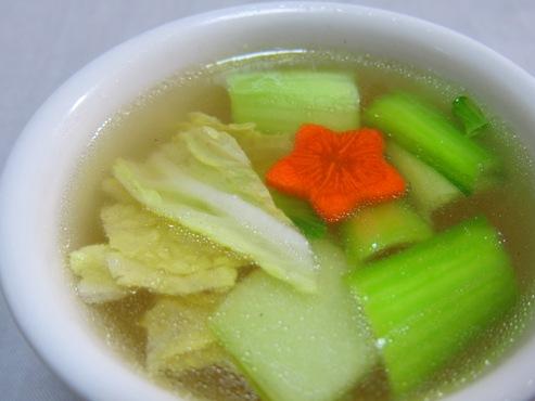 青梗菜と白菜スープ大