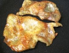 鶏皮 フライパン