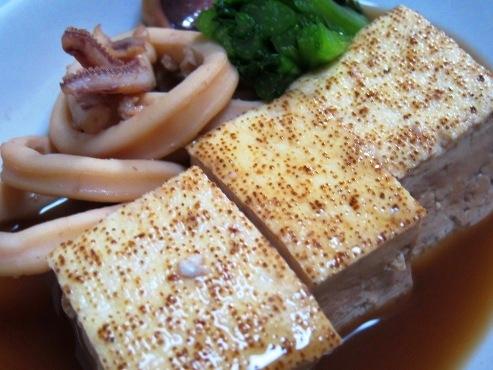 焼き豆腐とイカの煮物拡大