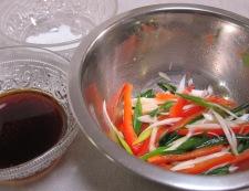 チキンステーキ中華風ソース トッピング野菜
