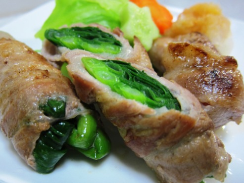 豚バラ肉のねぎ巻き(B)