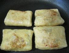 ツナとねぎのきつね焼 フライパン