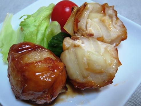玉ねぎ団子カット写真