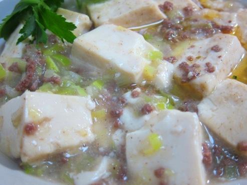 白麻婆豆腐大