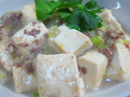 白麻婆豆腐拡大