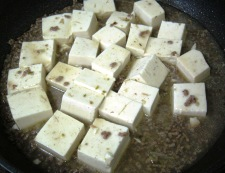 白麻婆豆腐 調理④