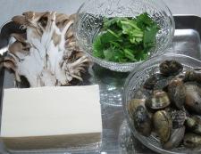 春あさりと豆腐の煮込み 材料