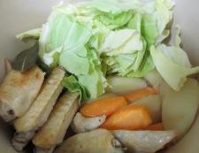 手羽先と春野菜スープ煮 調理③