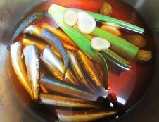 小いわしの梅酒煮 圧力鍋