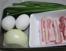 ニラと卵炒め 材料