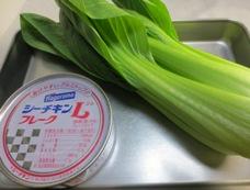 青梗菜とツナのからし和え材料