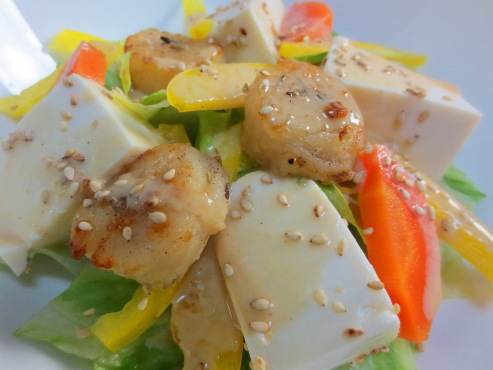 レタスと豆腐の胡麻サラダ大