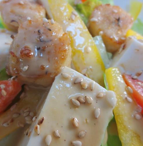 レタスと豆腐の胡麻サラダ拡大
