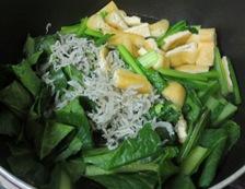 小松菜の炊いたん煮込み