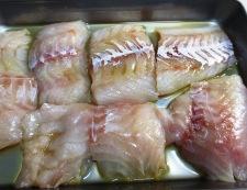 白身魚の和風ピカタ 材料と下味