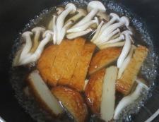 さつま揚げとししとうの炊いたん 調理①