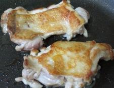 チキンのバジルソース 調理②
