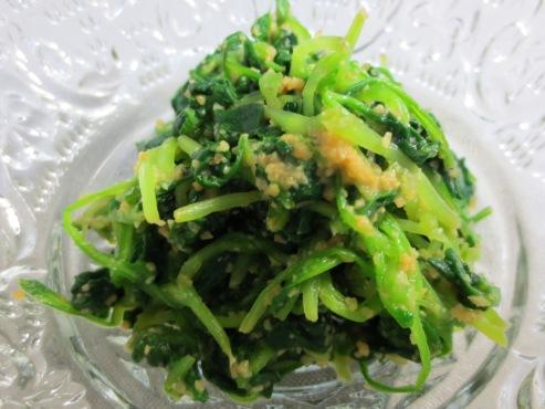 つまみ菜の胡麻和えB