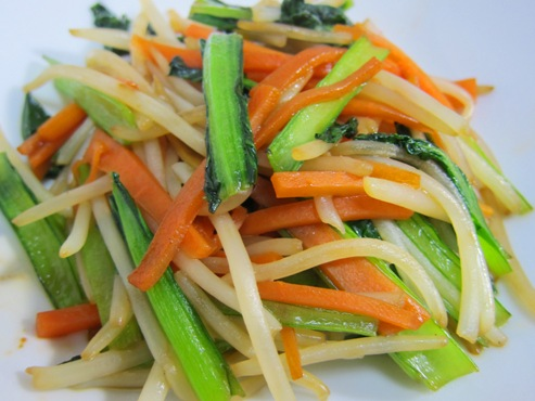 小松菜とにんじん炒め大