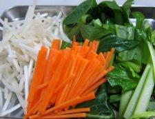 小松菜とにんじんの炒め 材料