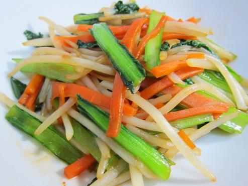 小松菜とにんじん炒めB