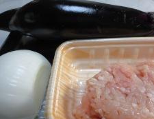 新玉ねぎと茄子のそぼろ煮 材料