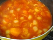 トマトスープ 調理②