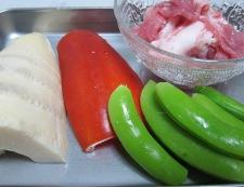 筍と豚肉炒め 材料