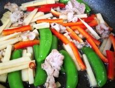筍と豚肉炒め 調理④
