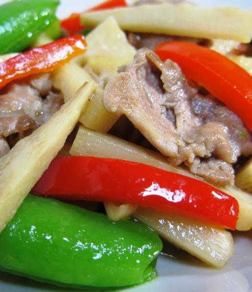 筍と豚肉炒め大